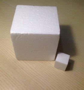 Пенопласт, куб, заготовки