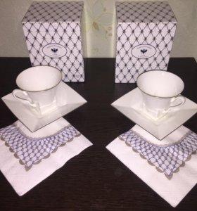 Чашка с блюдцем Императорский фарфор.