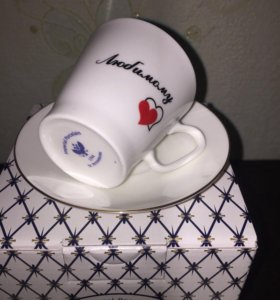 Кофейная чашка с блюдцем Императорский фарфор.