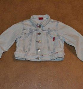 Укороченная джинсовая куртка, р. 5-6