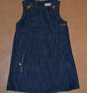 Джинсовое платье-сарафан NEXT, р. 4-5 лет