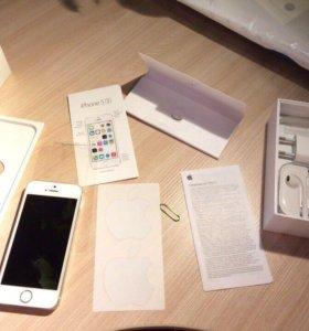 iPhone 5s 32gb gold+iPod в подарок.