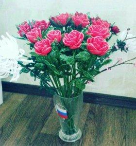 Цветы и деревья из бисера. Розы.