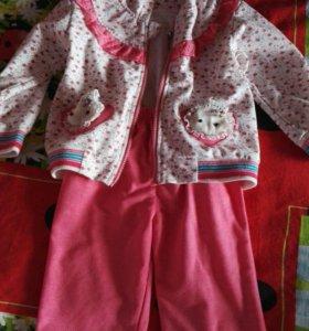 Спортивный костюм +кофточка с зайками с рукавом