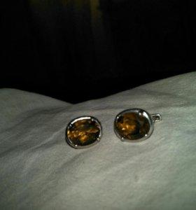 Сережки в серебре 925, камень султанит.