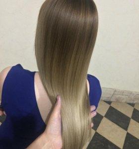 Кератиновое выпрямление,ботокс и окращивание волос