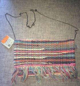 Новая сумка текстиль pull and bear