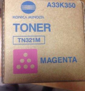 Тонер Konica Minolta TN321M пурпурный оригинал