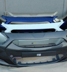 Передний Бампер Hyundai Solaris 10-14г