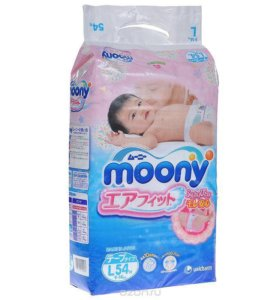 Moony Подгузники, 9-14 кг, 54 шт