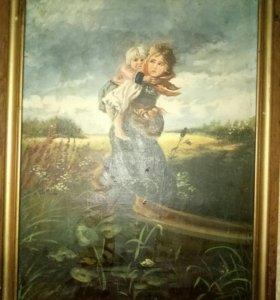 """Картина К. Маковского """"Дети, бегущие от грозы"""""""
