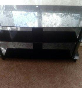 Тумба под TV, черное стекло. ТОРГ