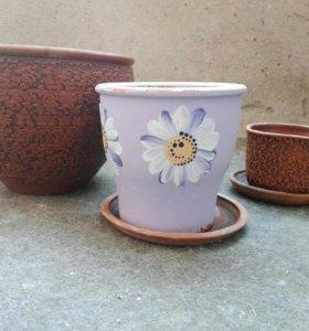 Керамические горшочки для цветов