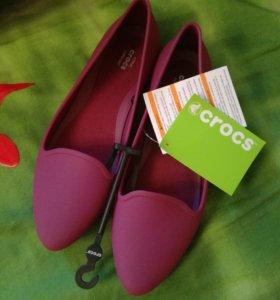 Crocs женские балетки новые