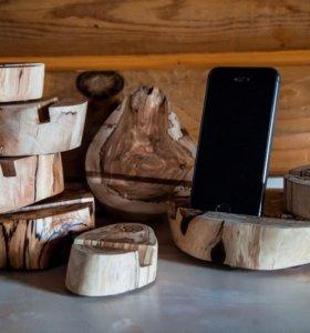 Подставки под телефон из дерева
