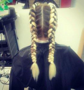 Плетение кос с каникалоном