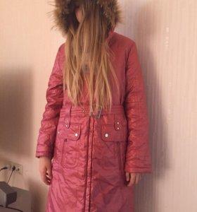 Новое пальто с биркой(мех натуральный)