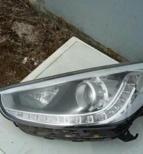 Фара левая галоген с LED Solaris 921014L500