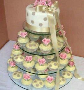 Свадебные торты с капкейками