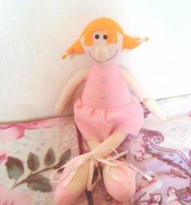 Кукла мягкая балерина