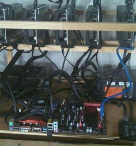 Продаю майнинг ферму RX 580 Pulse 8 gb