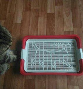 Туалет-лоток с сеткой для кошек