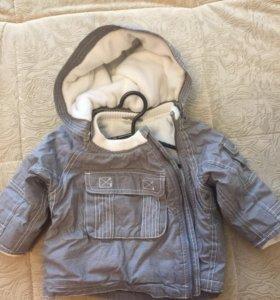 Детская курточка, тёплая, размер 68,