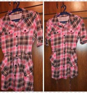 Рубашка-туника 52 размер удобная мягкая