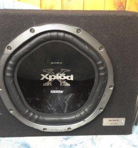 Сабвуфер Sony xplod+ усилитель kicx 4.65 hi-fi