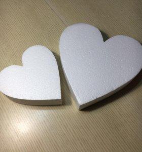 Пенопласт, сердце, заготовки