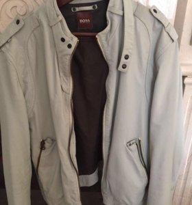 Кожаная мужская куртка Hugo Boss (оригинал)