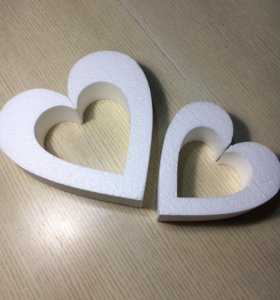 Пенопласт, сердце контурное, заготовки