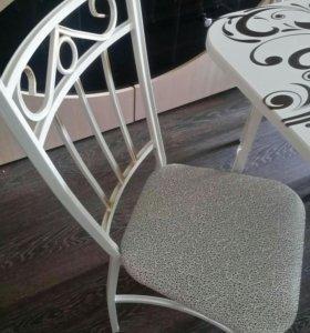 Стол стулья ковка