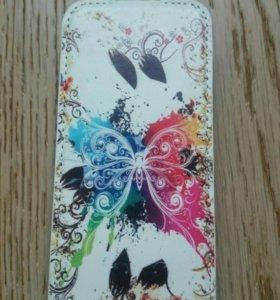 Новый кожаный чехол-книжка для айфон IPhone