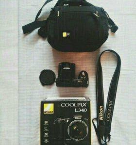 Nikon COOLPIX L340(с комплектом)+ шоколадка