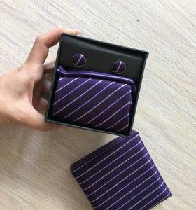 Набор галстук и запонки