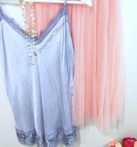 топ шёлковый и юбка