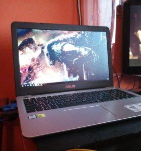 Asus x556u Игровой ноутбук.