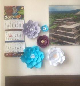 Бумажные цветы, декор
