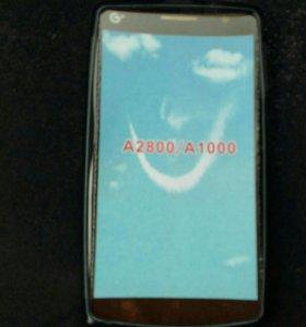 Чехол и каленое стекло Леново А1000