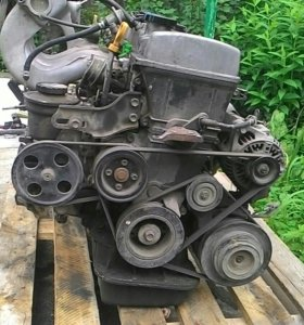 Двигатель 7А вместе с коробкой А245Е-04А