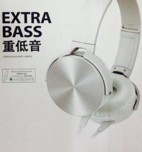 Новые наушники Sony 1405 серебро