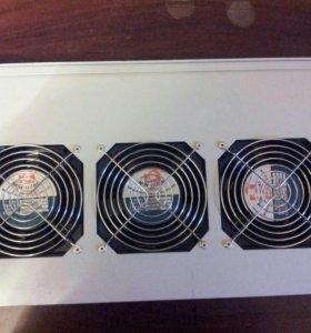 """Модуль (блок) вентиляторный 19"""" 3 вентилятора"""