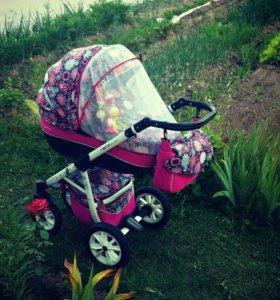 Срочно!!!!!!!!Продам коляску Riko Nano Flowers 2в1