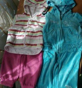 Вещи пакетом для девочки 62-68 см