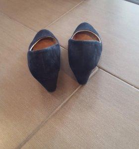 Туфли замшевые натуральные la redoute