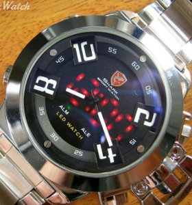Кварцевые часы Shark мужские серебристо черные