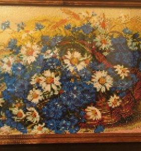 """Картина """"Цветы"""" алмазная вышивка"""