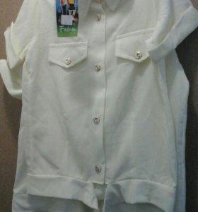 Рубашки размер указан 122 и 140