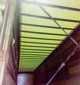 Ремонт сдвижной крыши прицепа